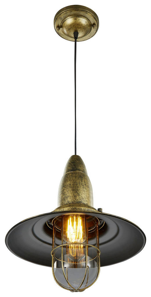 HÄNGELEUCHTE - Messingfarben, Basics, Metall (32/150cm)