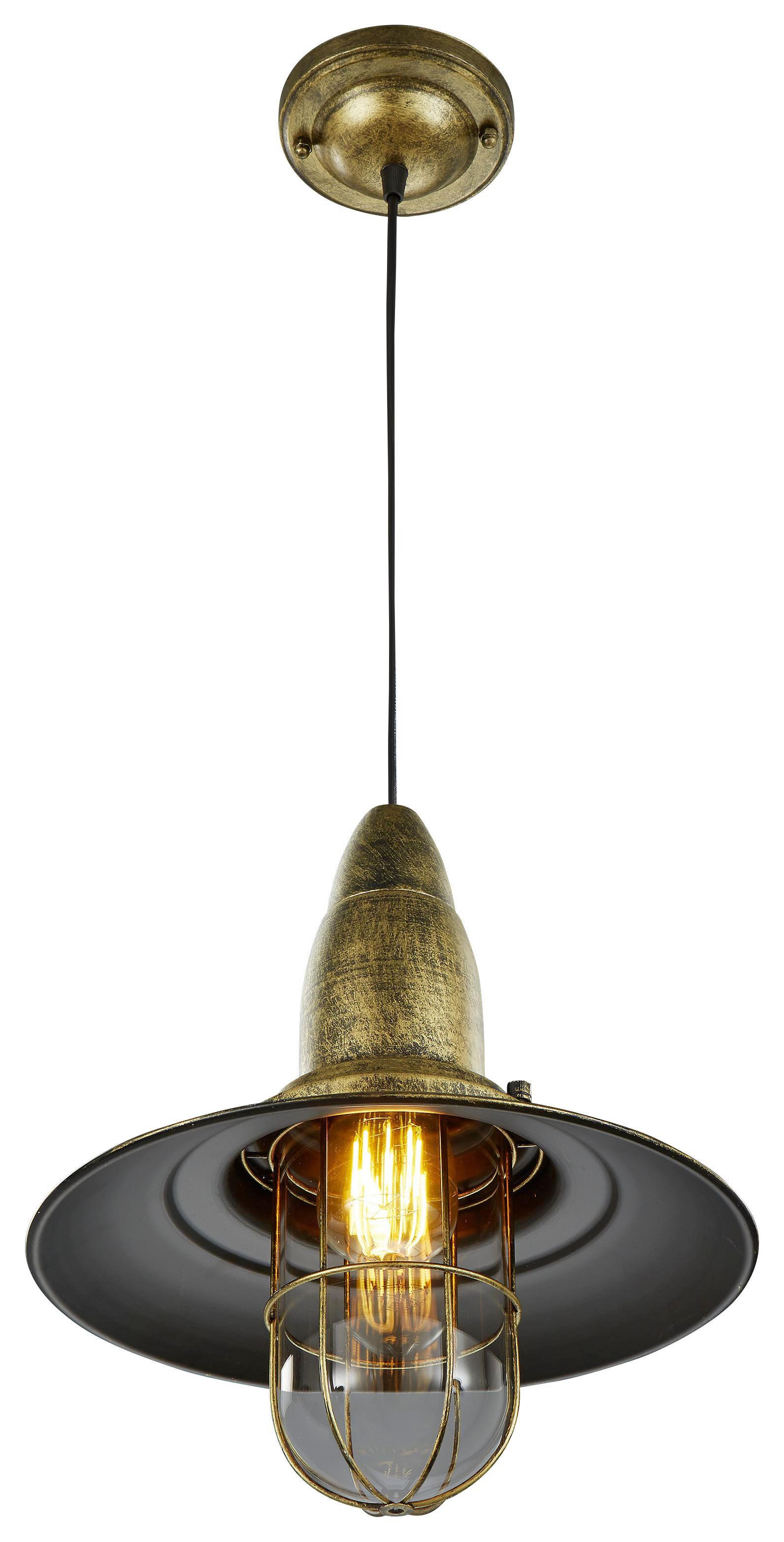 HÄNGELEUCHTE - Messingfarben, LIFESTYLE, Metall (32/150cm)