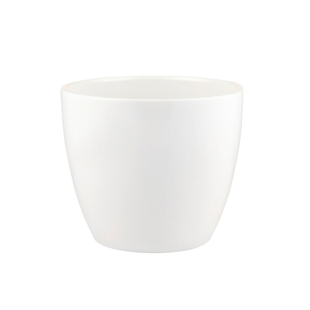 Übertopf alaska 25 cm , 27812 , Weiß , Keramik , 25x23 cm , gepulvert , 0030911589