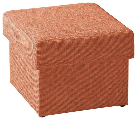 SITZWÜRFEL Orange - Orange, Design, Textil (55/45/55cm) - NOVEL