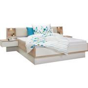 BETTANLAGE  180 cm  x  200 cm  in Holzwerkstoff Eichefarben, Weiß - Eichefarben/Weiß, Design, Holzwerkstoff (180/200cm) - CARRYHOME