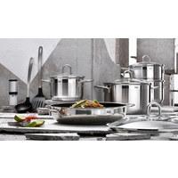 KOCHTOPFSET  Edelstahl  9-teilig - Silberfarben, Basics, Glas/Metall (59,5/34/35cm) - SILIT