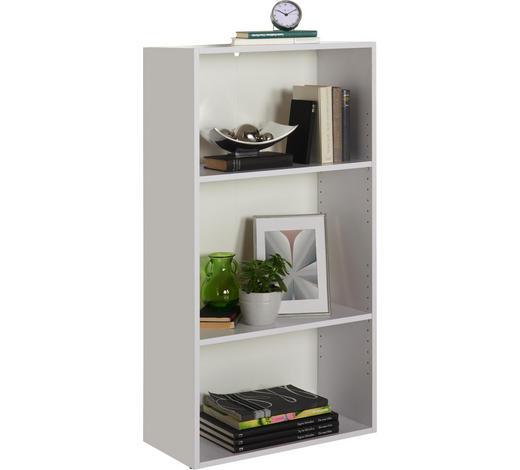 REGÁL - bílá/černá, Design, kompozitní dřevo/umělá hmota (60/115,2/32cm) - Carryhome