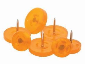 MÖBELTASSAR - orange/alufärgad, Basics, metall/plast (2,5cm)