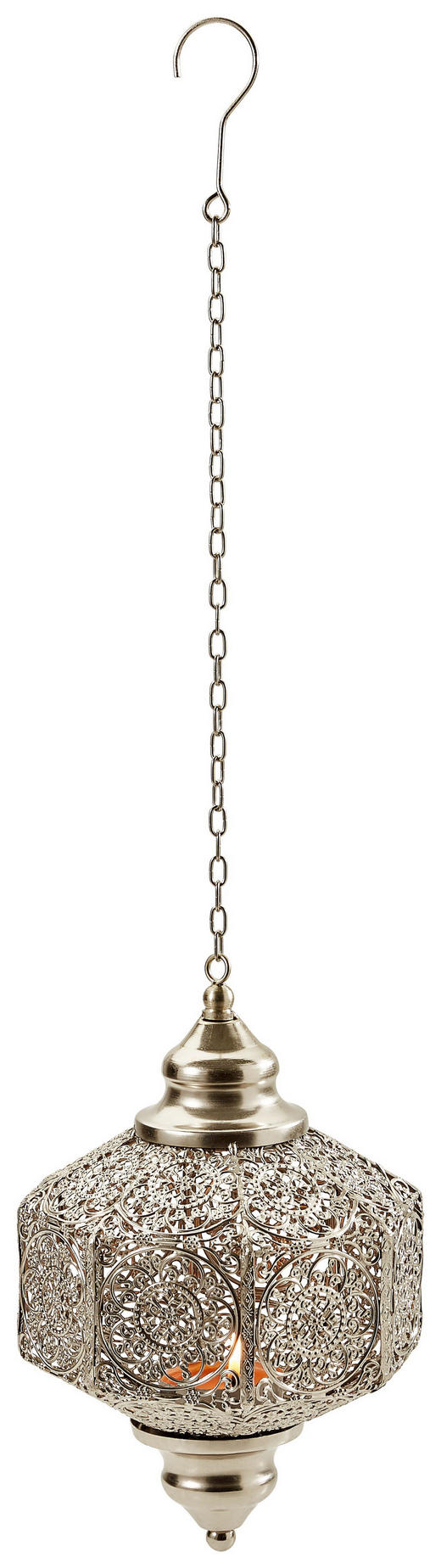 LATERNE - Silberfarben, Metall (20/28/20cm) - Ambia Home