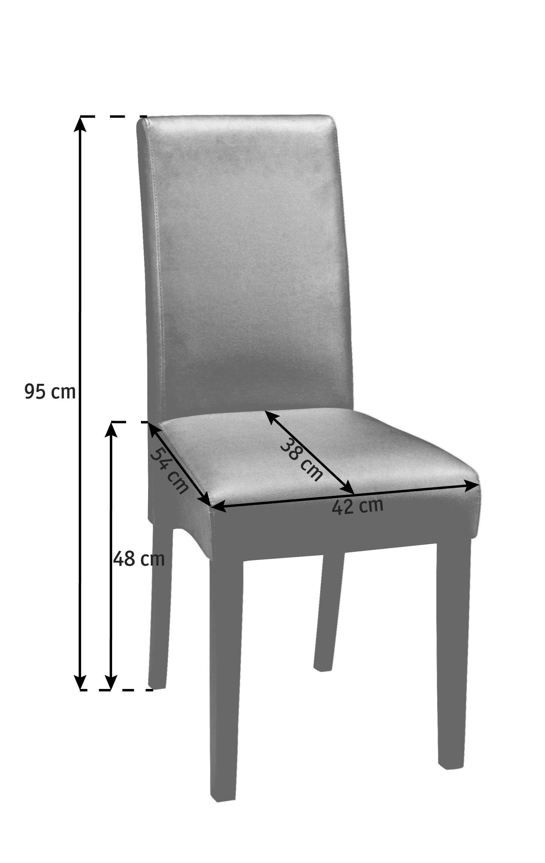 Stuhl zeichnung  STUHL in Holz, Textil Beige, Wengefarben online kaufen ➤ XXXLutz