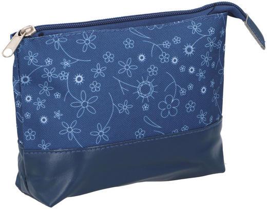 KULTURBEUTEL - Blau, Basics, Textil (19/16/1cm)