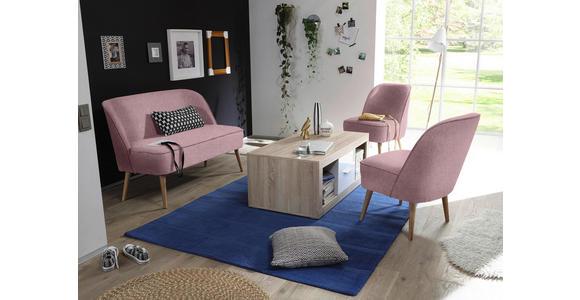 SITZBANK 122/83/66 cm  in Rosa  - Rosa/Kieferfarben, Trend, Holz/Holzwerkstoff (122/83/66cm) - Carryhome