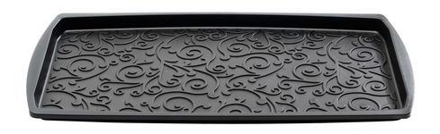 FUßMATTE Abstraktes Anthrazit - Anthrazit, Basics, Kunststoff/Textil (38/74/2cm) - Esposa