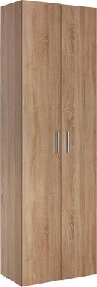 MEHRZWECKSCHRANK in Eichefarben - Eichefarben/Alufarben, Design, Holzwerkstoff/Kunststoff (60/192/33,6cm) - CARRYHOME