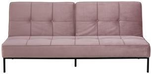 SCHLAFSOFA in Textil Rosa  - Schwarz/Rosa, Trend, Textil/Metall (198/87/95cm) - Carryhome