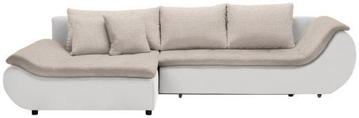 WOHNLANDSCHAFT in Textil Creme, Naturfarben - Creme/Schwarz, Design, Kunststoff/Textil (185/310/cm) - Carryhome