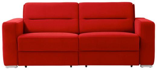 SCHLAFSOFA in Textil Rot - Rot, KONVENTIONELL, Textil/Metall (202/86/92cm) - Sedda