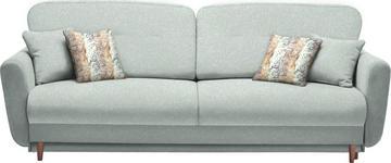 DREISITZER-SOFA in Textil Platinfarben - Platinfarben/Multicolor, Design, Holz/Textil (235/87/98cm) - Hom`in