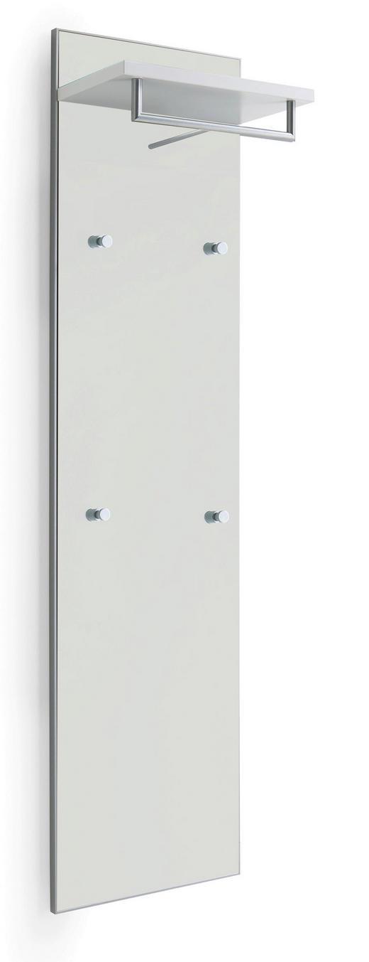 GARDEROBENPANEEL lackiert Weiß - Weiß, Design, Glas (42/170/27cm)