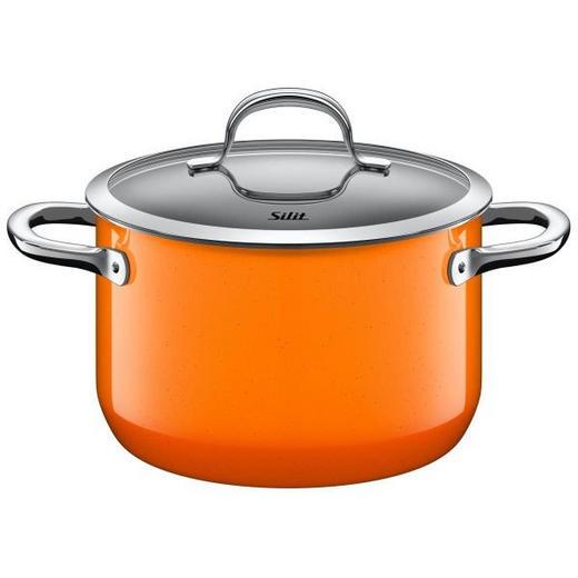 FLEISCHTOPF Edelstahl - Orange, Basics, Glas/Metall (20cm) - Silit