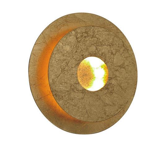 LED-WANDLEUCHTE - Goldfarben, Design, Kunststoff/Metall (18/6,7cm)