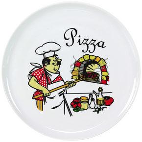 PIZZATALLRIK - vit/röd, Basics, keramik (30cm) - Homeware