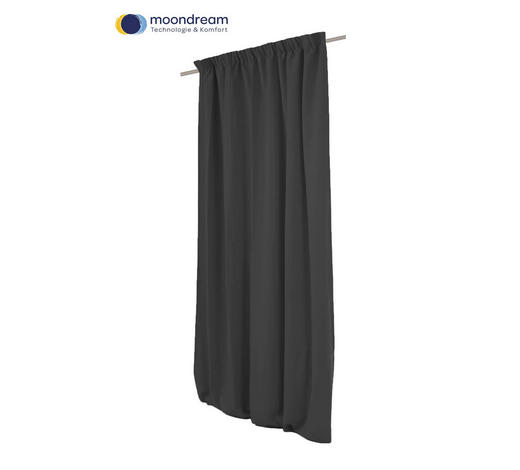 VERDUNKELUNGSVORHANG  Verdunkelung  145/260 cm   - Anthrazit, Design, Textil (145/260cm)