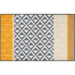 FUßMATTE 75/120 cm Graphik Gelb, Multicolor, Beige  - Gelb/Beige, Basics, Kunststoff/Textil (75/120cm) - Esposa