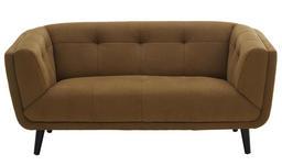 ZWEISITZER-SOFA in Textil Gelb, Schwarz  - Gelb/Schwarz, MODERN, Holz/Textil (159/75/88cm) - Carryhome