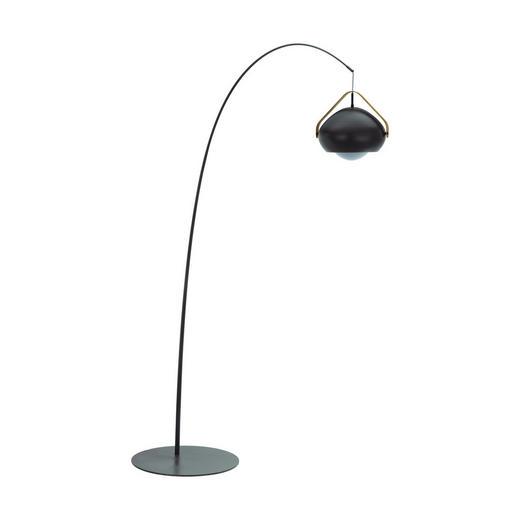 STEHLEUCHTE - Braun/Grau, Design, Glas/Holz (59/220,5/180cm) - Dieter Knoll