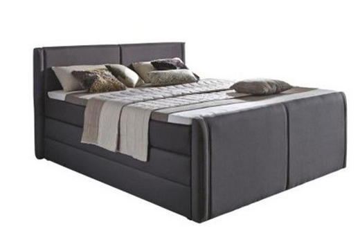 BOXSPRINGBETT Webstoff 180/200 cm  INKL. Bettkasten, Matratze - Anthrazit, Design, Textil (180/200cm) - Carryhome