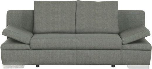 SCHLAFSOFA Grau - Chromfarben/Grau, Design, Textil/Metall (200/76/94cm)