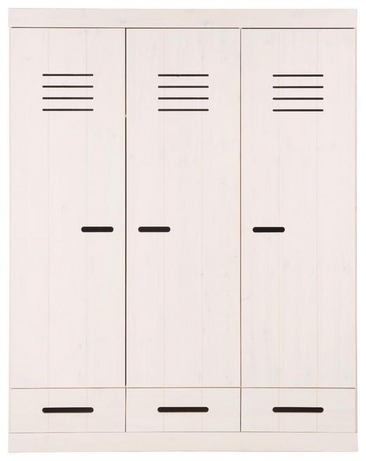 KLEIDERSCHRANK 3-türig Kiefer massiv Kieferfarben, Weiß - Weiß/Kieferfarben, LIFESTYLE, Holz (150/190/58cm) - Ben'n'jen