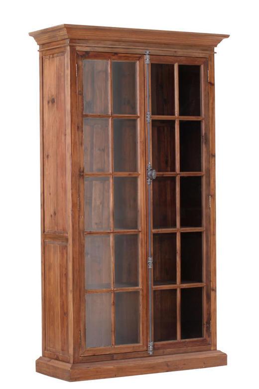 VITRINE Pinie massiv Braun - Braun, Design, Holz (120/210/47cm)