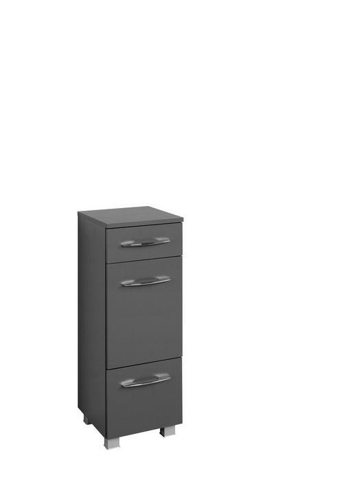 UNTERSCHRANK Graphitfarben - Chromfarben/Silberfarben, Design, Holzwerkstoff/Kunststoff (30/84/35cm) - Carryhome