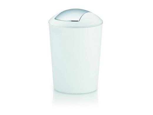 SCHWINGDECKELEIMER 5 L - Schwarz/Weiß, Basics, Kunststoff (20/28,5cm)
