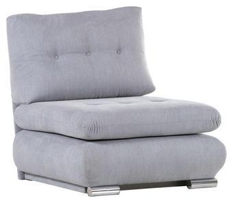 SCHLAFSESSEL Flachgewebe Grau - Chromfarben/Grau, Design, Textil (85/92/90cm) - Xora