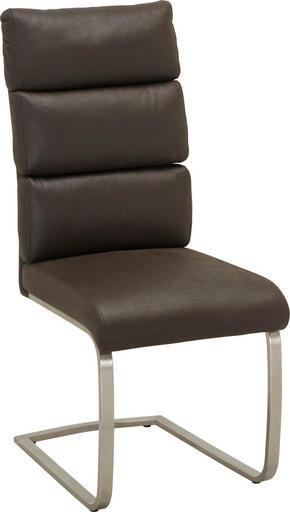 SVIKTSTOL - mörkbrun/rostfritt stål-färgad, Design, metall/textil (47/106/63cm) - Cantus