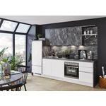 Einbauküche Florenz/Riga - Graphitfarben/Weiß, MODERN, Holzwerkstoff (288cm) - Vertico