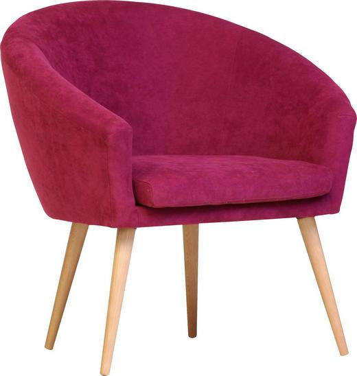 SESSEL in Textil Pink - Pink/Naturfarben, Design, Holz/Textil (73/73/66cm) - Carryhome