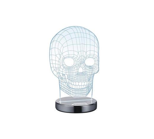 LED-TISCHLEUCHTE - Klar/Chromfarben, Trend, Kunststoff/Metall (14,5/21,5/12cm) - Boxxx
