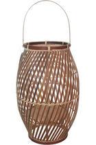 LATERNE - Braun, Basics, Holz (25/40,5cm)