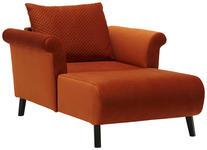 BIG SESSEL in Textil Rostfarben  - Rostfarben/Schwarz, Design, Holz/Textil (110/92/150cm) - Carryhome