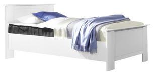 BETT in Weiß  - Weiß, KONVENTIONELL, Holzwerkstoff (100/200cm) - Cantus