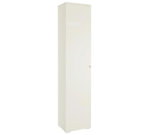 SCHUHSCHRANK 40/197/37 cm  - Chromfarben/Weiß, Design, Holzwerkstoff/Metall (40/197/37cm) - Xora