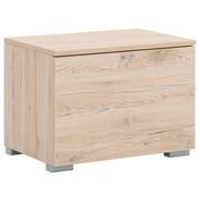 GARDEROBENBANK 60/44/42 cm - Eichefarben/Silberfarben, Design, Holzwerkstoff/Metall (60/44/42cm) - Cassando
