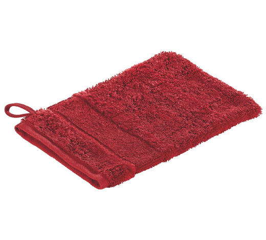 WASCHHANDSCHUH  Rot - Rot, Basics, Textil (16/22cm) - Cawoe
