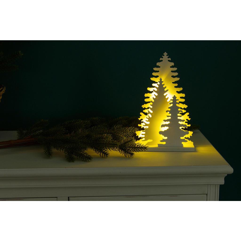 X-Mas Dekoweihnachtsbaum beleuchtet, Weiß | Weihnachten > Weihnachtsbeleuchtung | Weiß | Kunststoff | X-Mas