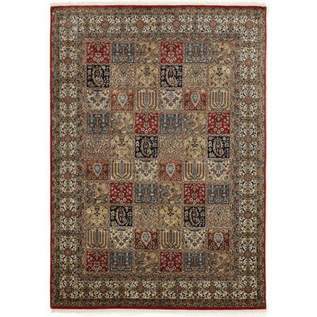 Esposa Orientteppich , Rot, Beige , Textil , Bordüre , rechteckig , 80 cm , Care & Fair , für Fußbodenheizung geeignet, in verschiedenen Größen erhältlich , Teppiche & Böden, Teppiche, Orientteppiche