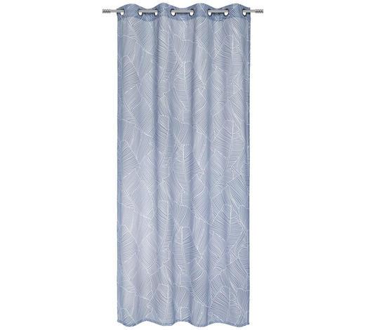 ÖSENVORHANG halbtransparent  - Blau, Design, Textil (135/245cm) - Esposa