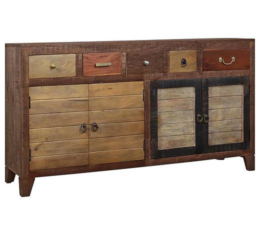 PŘÍBORNÍK/KOMODA, akácie, mangové dřevo, teakové dřevo, vícebarevná - vícebarevná, Lifestyle, dřevo/kompozitní dřevo (160/85/40cm) - Landscape