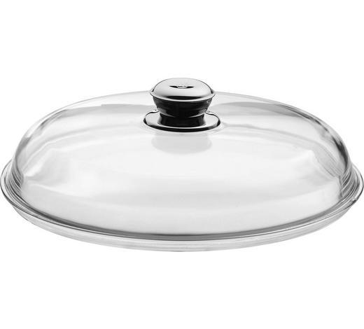 DECKEL - Klar/Edelstahlfarben, Design, Glas/Metall (32cm) - WMF