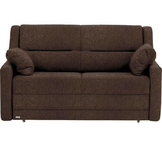 SCHLAFSOFA in Textil Braun  - Schwarz/Braun, KONVENTIONELL, Kunststoff/Textil (152/88/91cm) - Sedda
