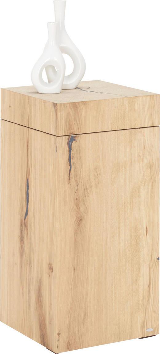 BEISTELLTISCH Wildeiche mehrschichtige Massivholzplatte (Tischlerplatte) quadratisch Eichefarben - Eichefarben, KONVENTIONELL, Holz (34/34/73cm) - Voglauer